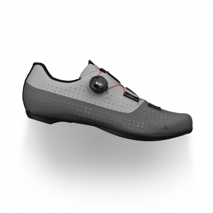 Tempo Overcurve R4 grey-red fizik road cycling shoes with carbon injected outsole