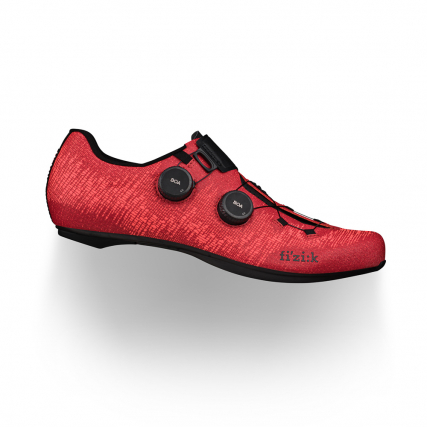Vento Infinito Knit Carbon 2 Coral Red fizik road racing cycling shoes for enhanced breathability